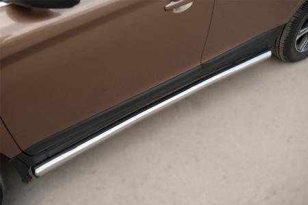 Volvo XC 60 2008-2013 Пороги труба d63 (вариант 3) VXCT-0020783